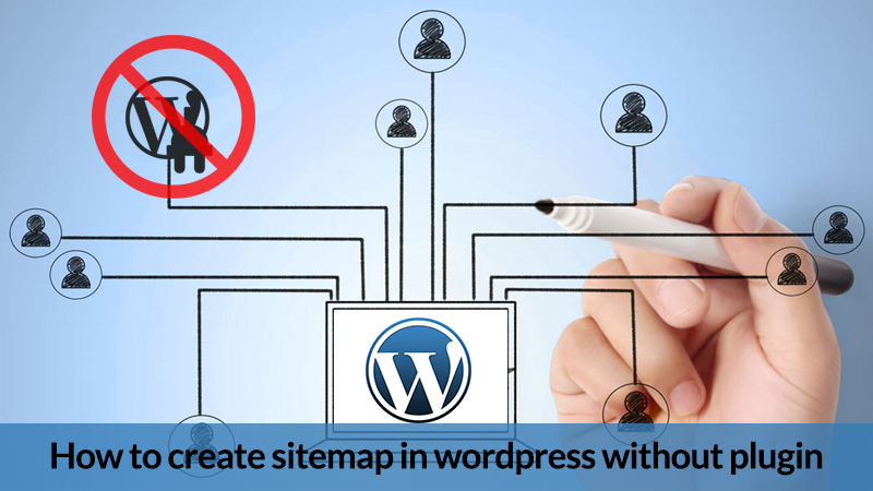 How to create sitemap in wordpress without plugin