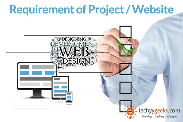 Understand Requirement of Website